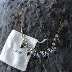 Blue and Gold J. Crew Statement Necklace
